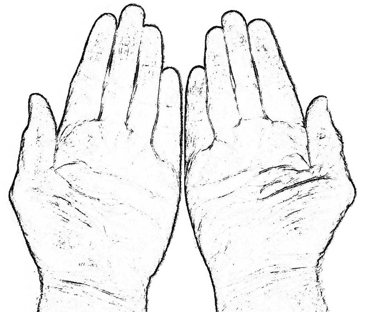 Praying Hands Coloring Page Free