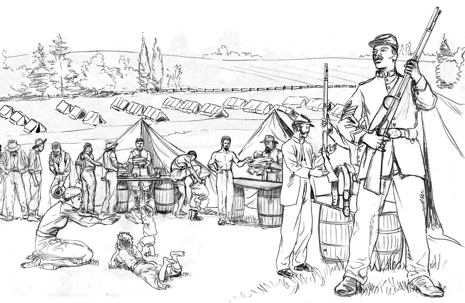 Civil War Coloring Pages To Print Coloring Home War Coloring Pages