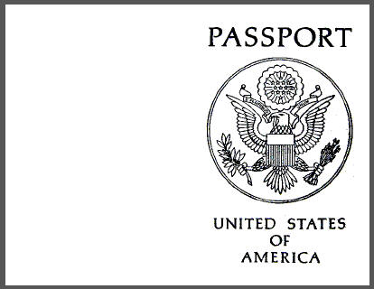 Passport Coloring Page - Coloring Home