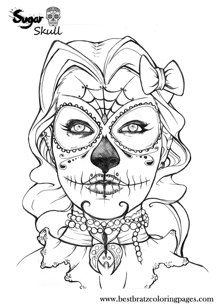 Sugar Skull Coloring Pages To Print
