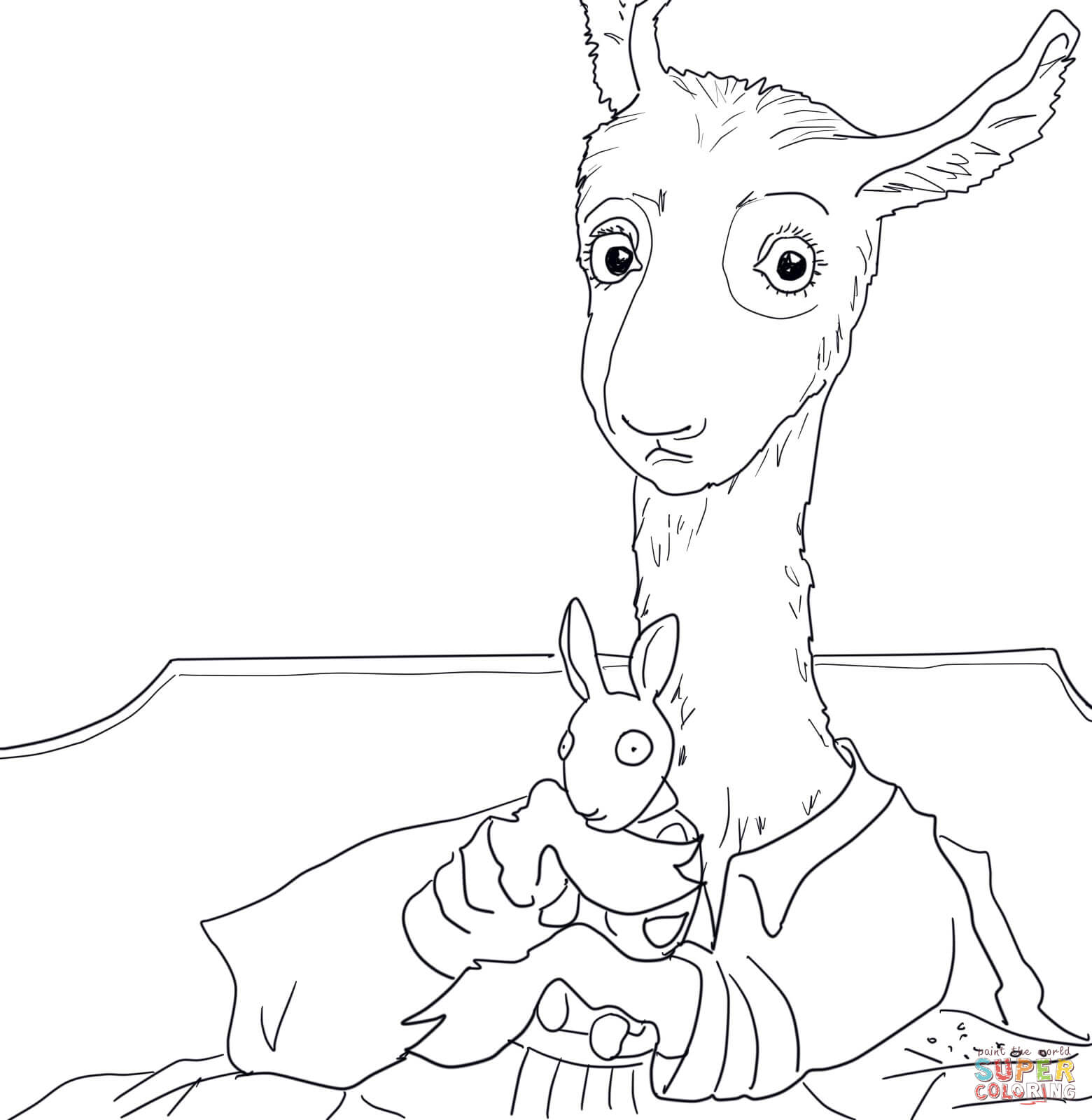 Llama Llama Red Pajama coloring page | Free Printable Coloring Pages