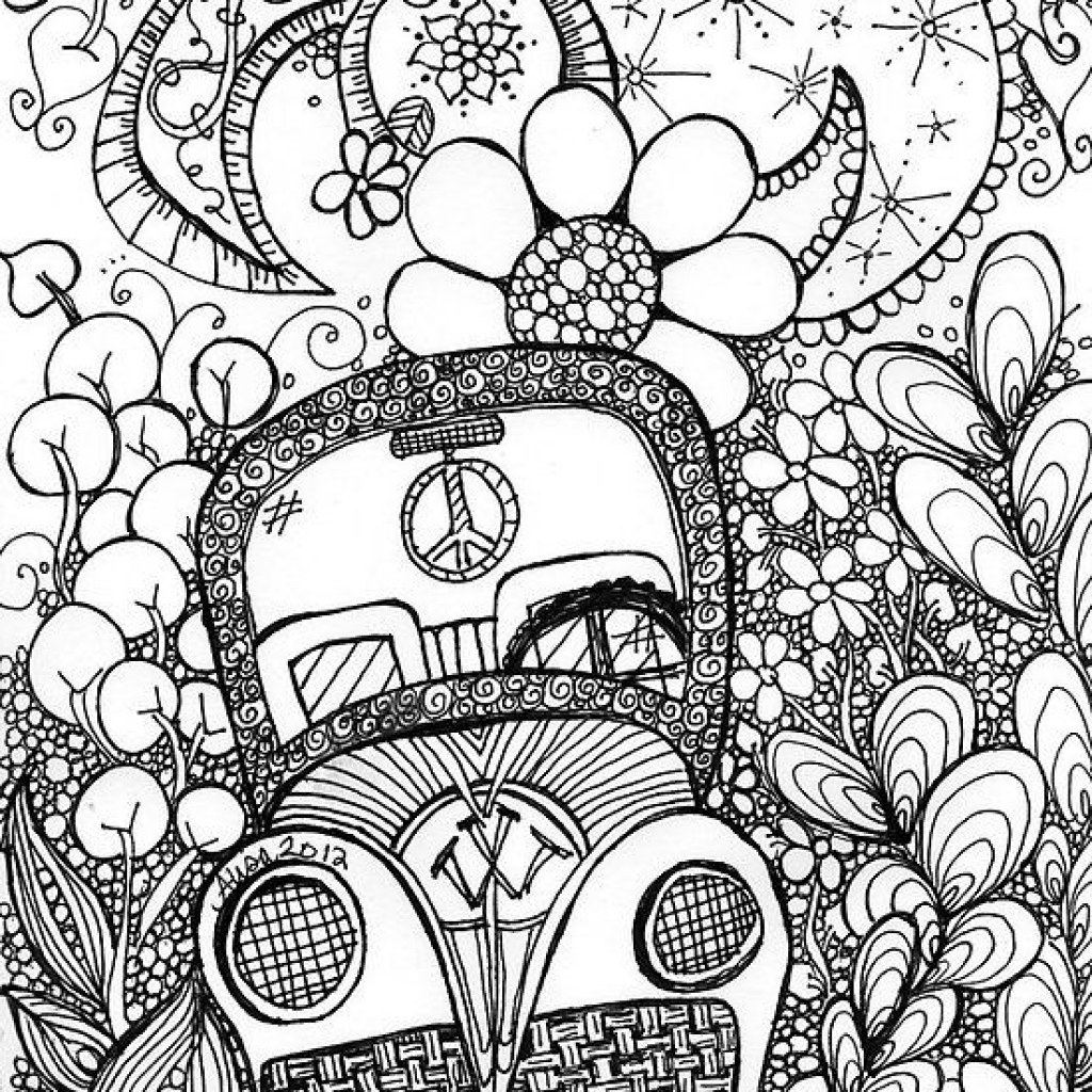 Coloring pages trippy az coloring pages for Printable psychedelic coloring pages