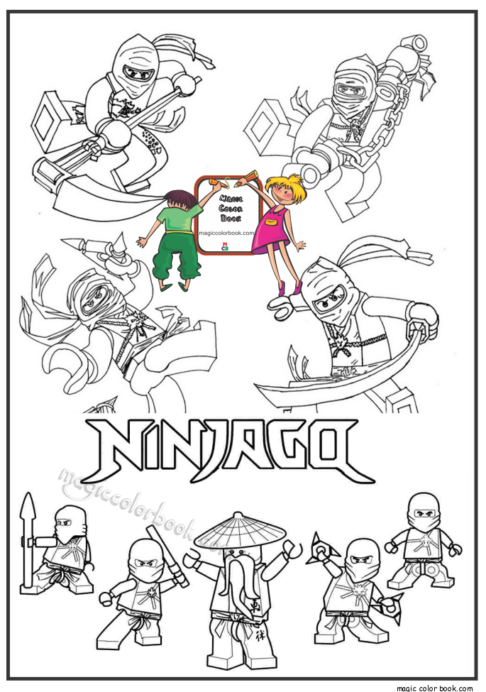 magic ninjago lego coloring pages