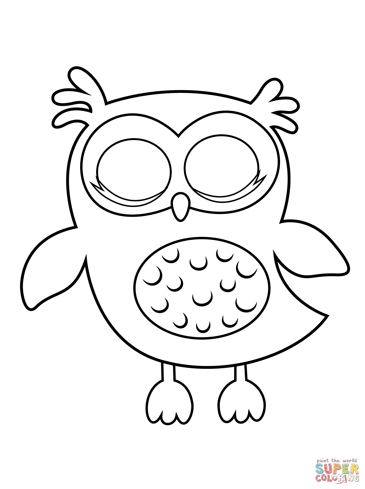 owls coloring pages preschool | Owl Coloring Pages Preschool - Coloring Home
