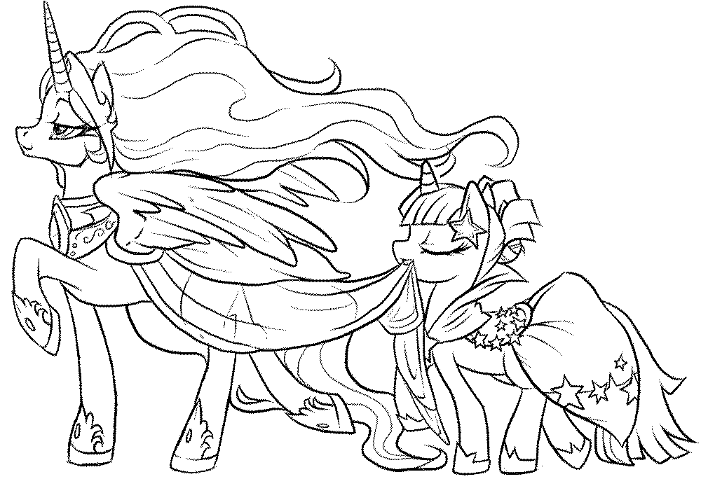 My Little Pony Coloring Pages For Free Coloring Home
