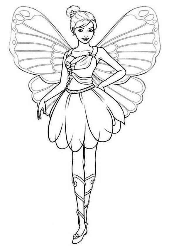 Coloring Pages Of Barbie Mariposa : Barbi mariposa coloring pages az