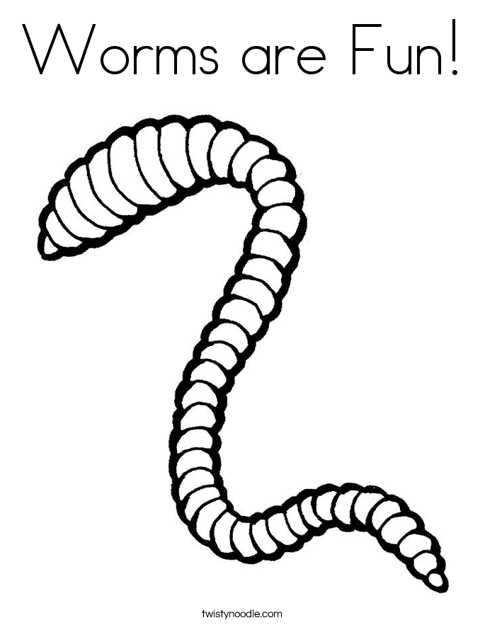 Worms are Fun Coloring Page - Twisty Noodle