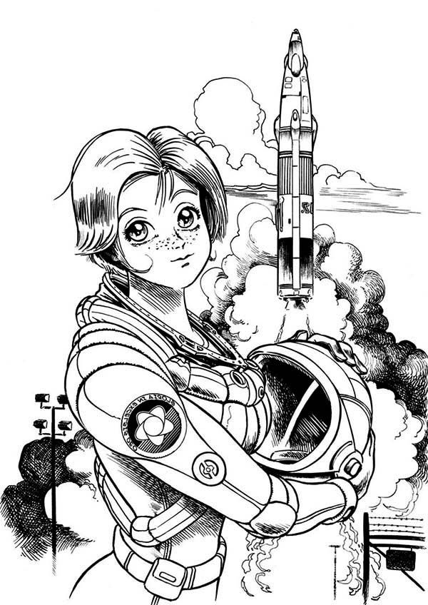 Astronaut Outer Space Coloring