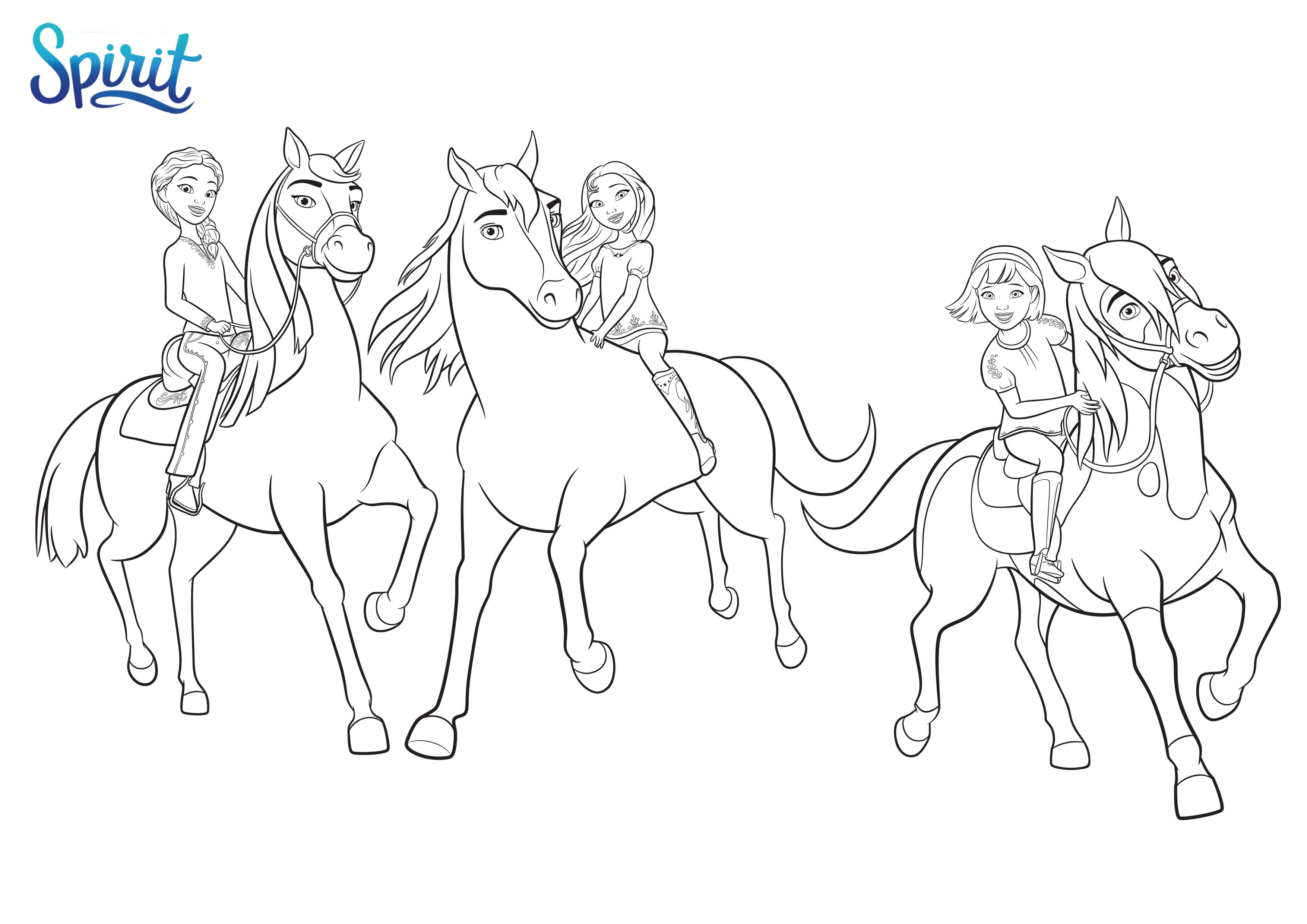 spirit riding free coloring pages  coloring home