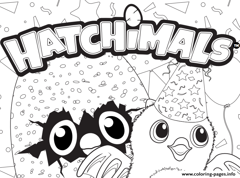 Hatchimals Printable Coloring Pages Coloring Home