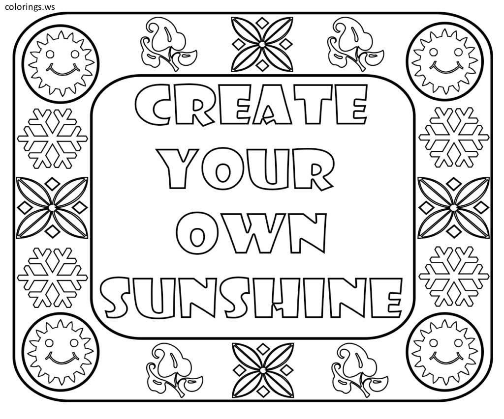 Sunshine Coloring Pages - Coloring Home