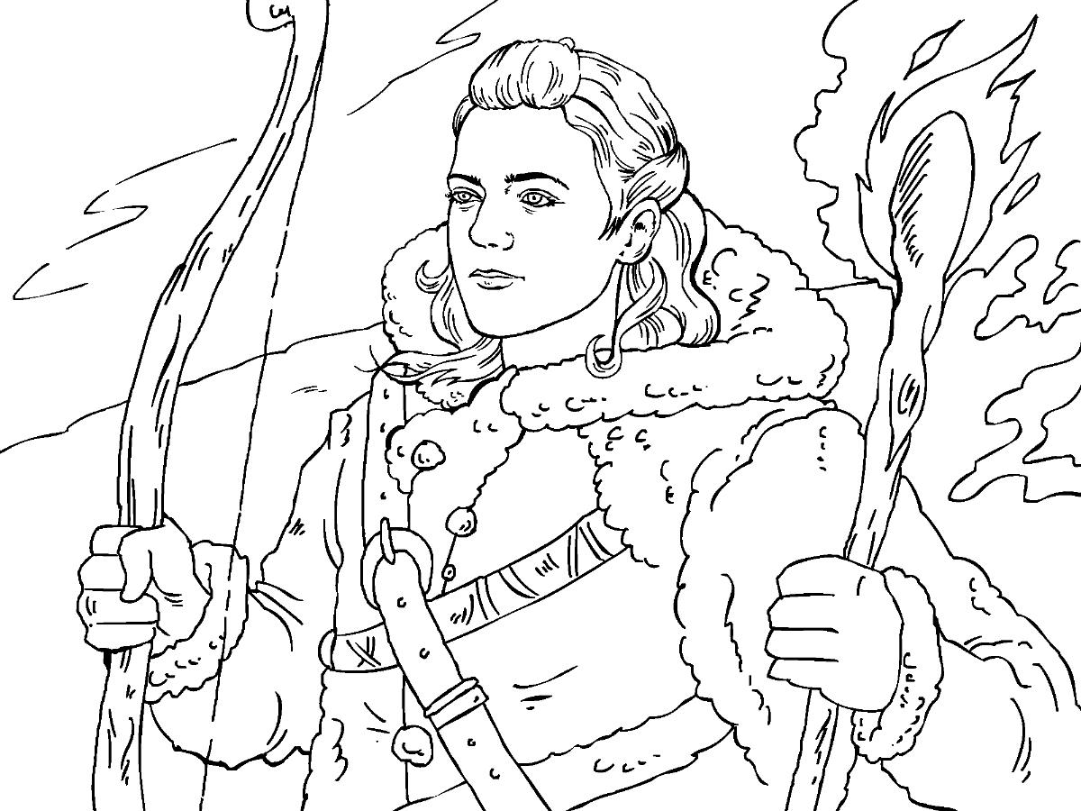 Game of Thrones Colouring in Page - Ygritte | Coloring pages ...