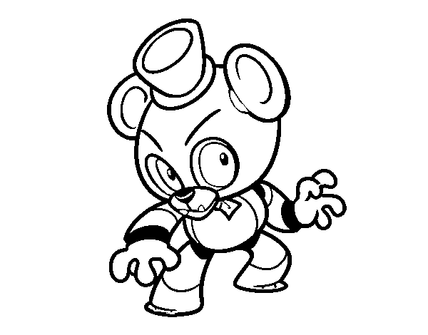 Toy Freddy from Five Nights at Freddy's coloring page ...