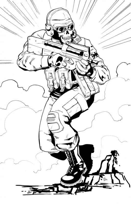 Coloring Pages Of Advanced Warfare : Call of duty black ops coloring pages home