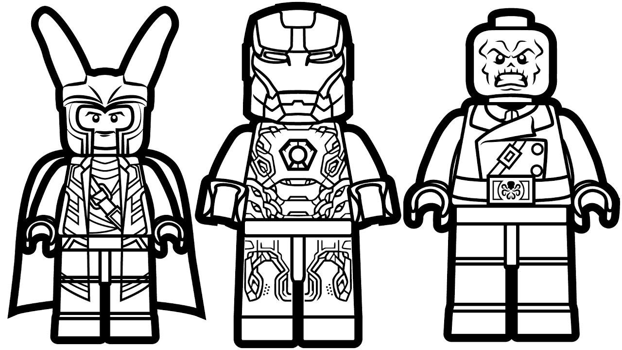 Lego Marvel Coloring Pages Coloring Home