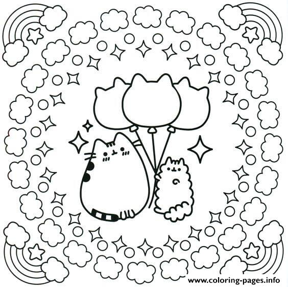 Cinnamoroll Pusheen Coloring Pages Printable