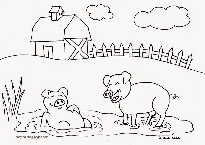 old macdonald had a farm coloring pages page 1
