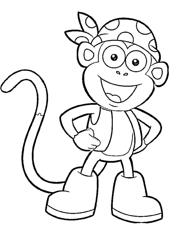 Free Boots Of Dora Printable Coloring Pages | Cartoon Coloring ...