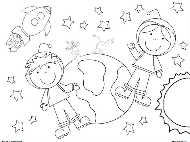 Outer Space For Kids | Free Coloring Pages on Masivy World