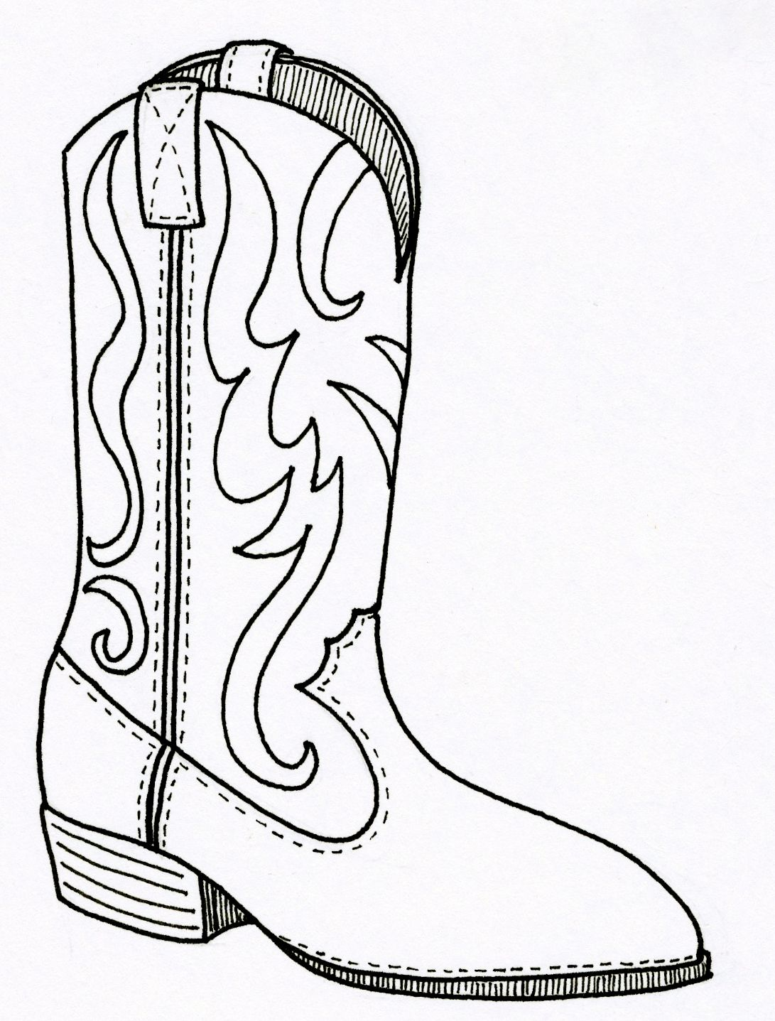 Western boots, Coloring and Coloring pages on Pinterest