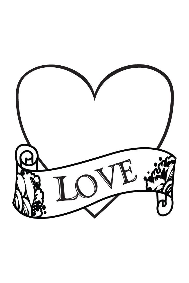 I Love You Coloring Pages | Love and Hearts Coloring Pages ...