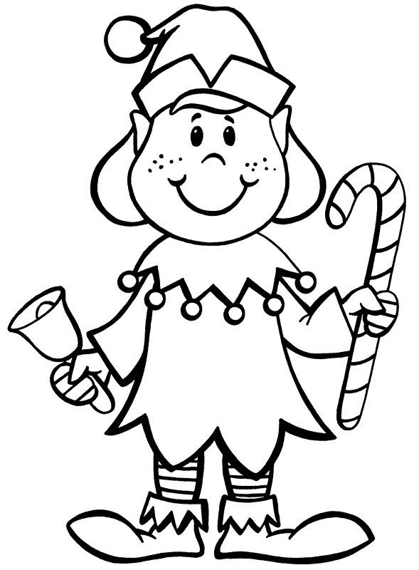 elf christmas coloring pages printable - photo#42