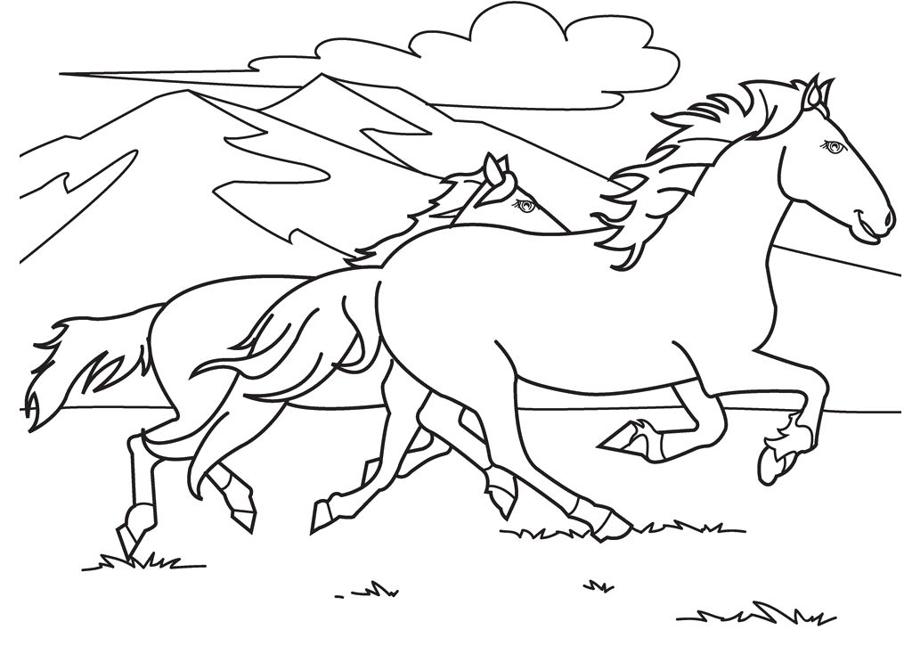 - Horse Running Coloring Pages - Coloring Home