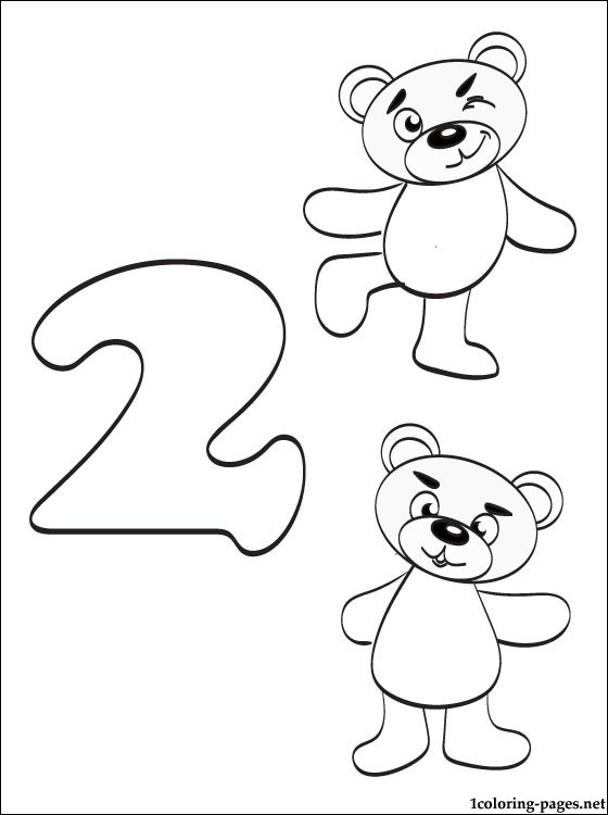 Number 2 Two coloring page | Coloring pages