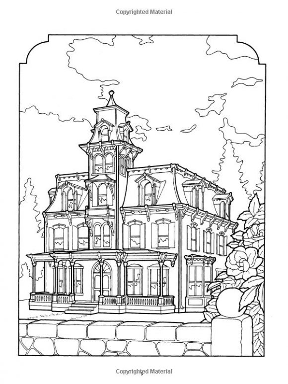 Printable Coloring Pages For Adults Houses : Victorian House Coloring Pages Coloring Home