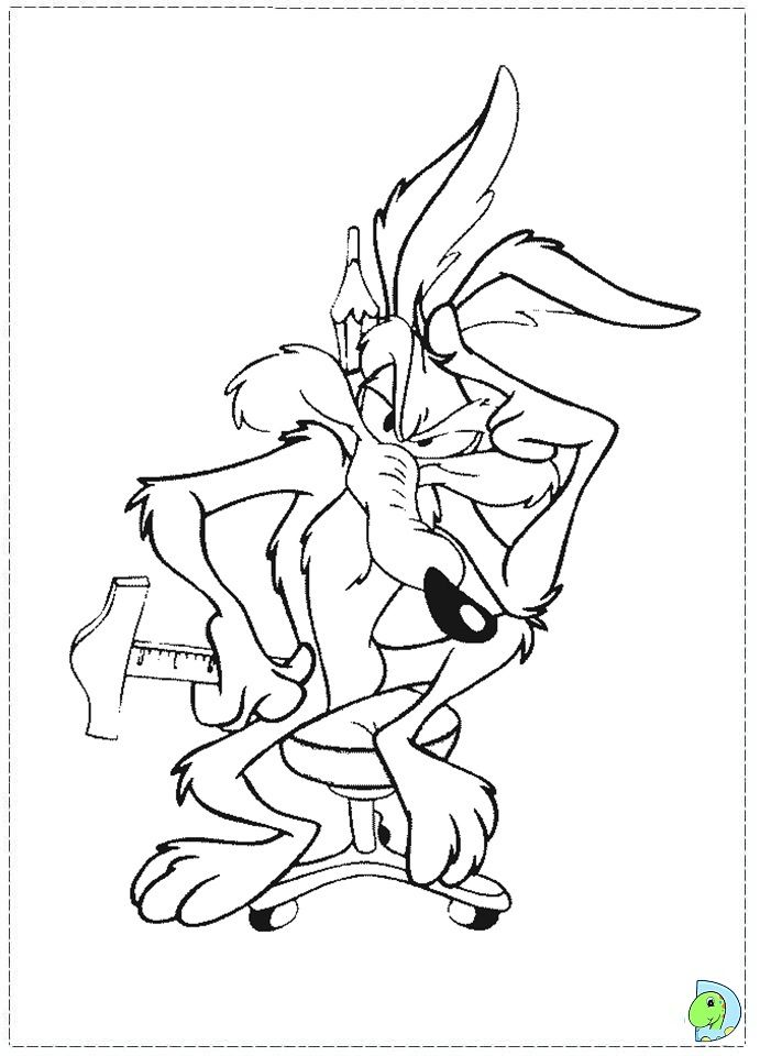 wile e coyote coloring pages - photo#8