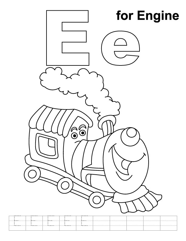 e coloring pages - photo #41