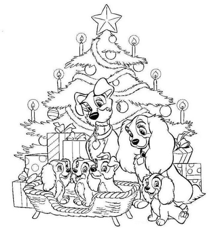 Free Disney Xmas Coloring Pages : Disney Christmas Coloring Pages Printable AZ Coloring Pages