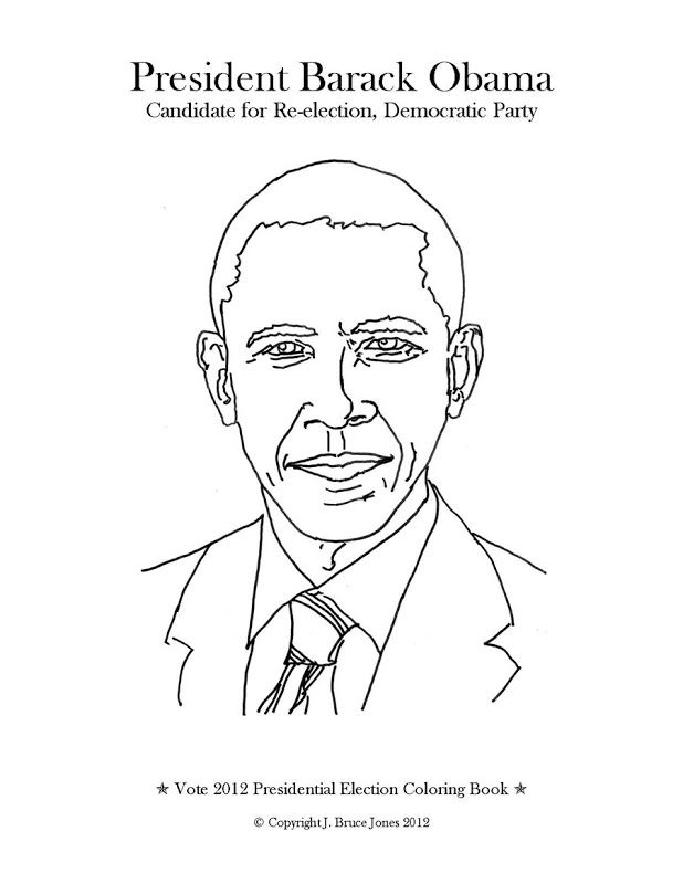 Barack obama coloring page az coloring pages for Barack obama coloring page