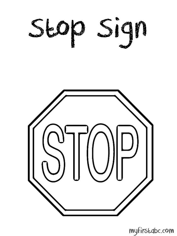 stop sign coloring pages - photo#13