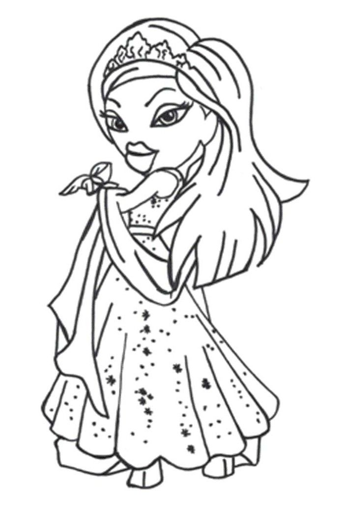 bratz coloring pages cloey - photo#5