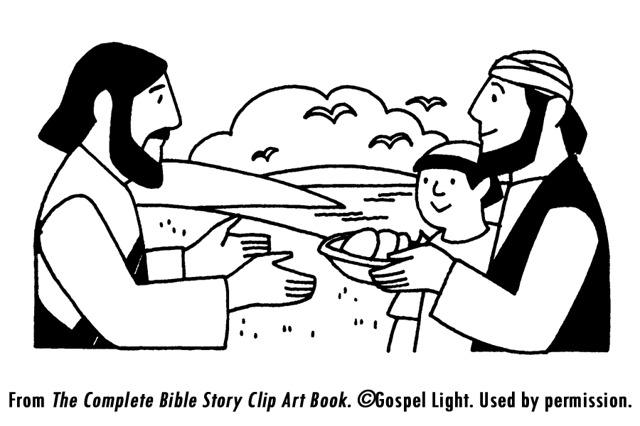 Jesus Feeding 5000 Coloring Page From Jesus Feeds 5000 Coloring ... | 600x900