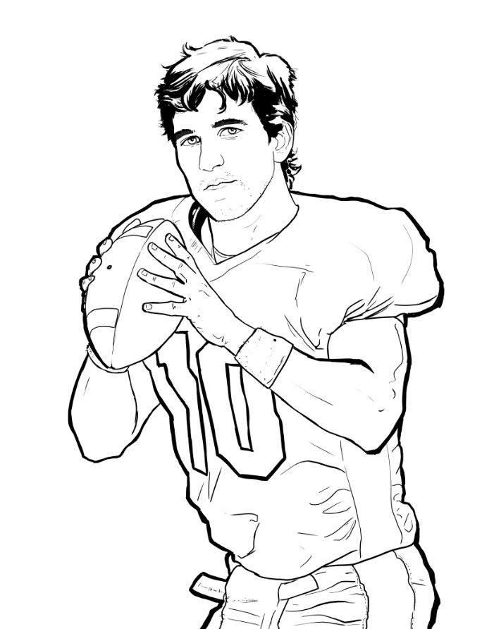 Eli Manning Coloring Pages Coloring