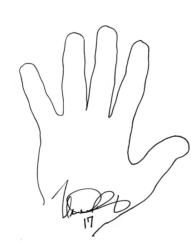 coloring pages of hand prints - photo#5