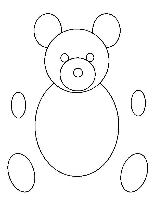 Outline Of A Teddy Bear - AZ Coloring Pages