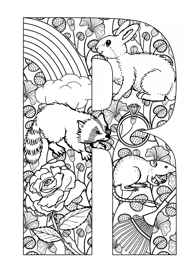 r a w coloring pages - photo #37