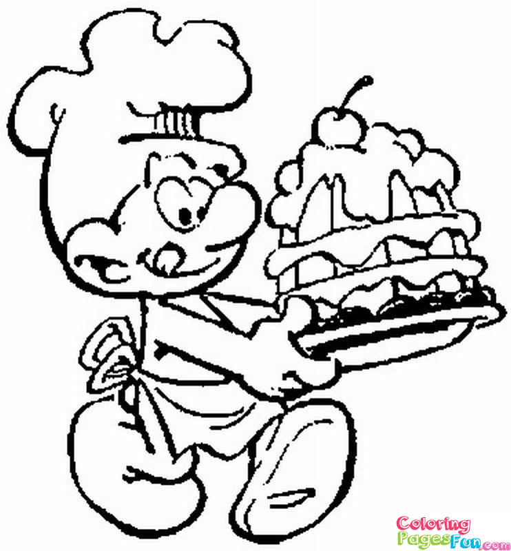 Smurf Coloring Page Az Coloring Pages