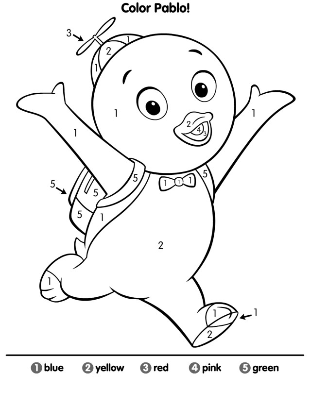backyardigans coloring pages free az coloring pages