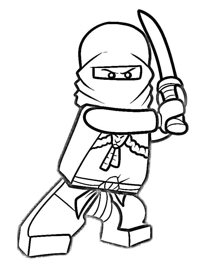 Coloring Sheet Ninjago : Ninjago Coloring Pages Kai AZ Coloring Pages