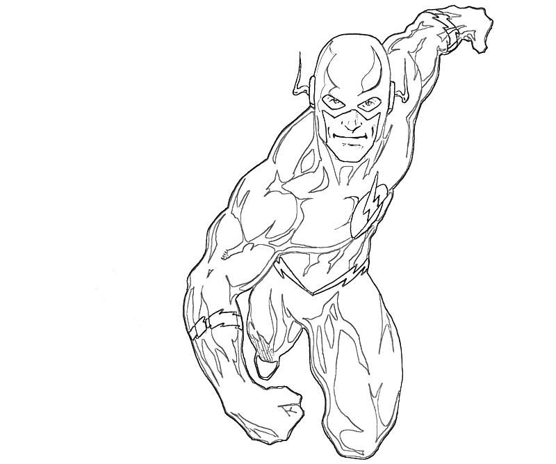 The Flash Coloring Pages Az Coloring Pages Flash Coloring Page