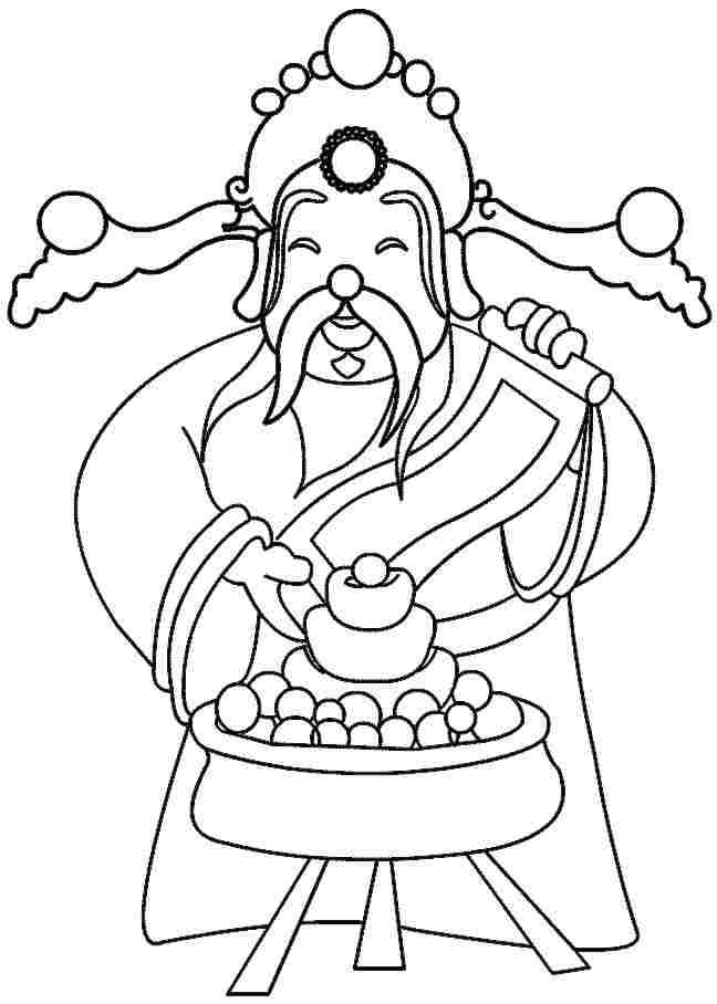 Chinese new year printable coloring pages az coloring pages for New years coloring pages 2014