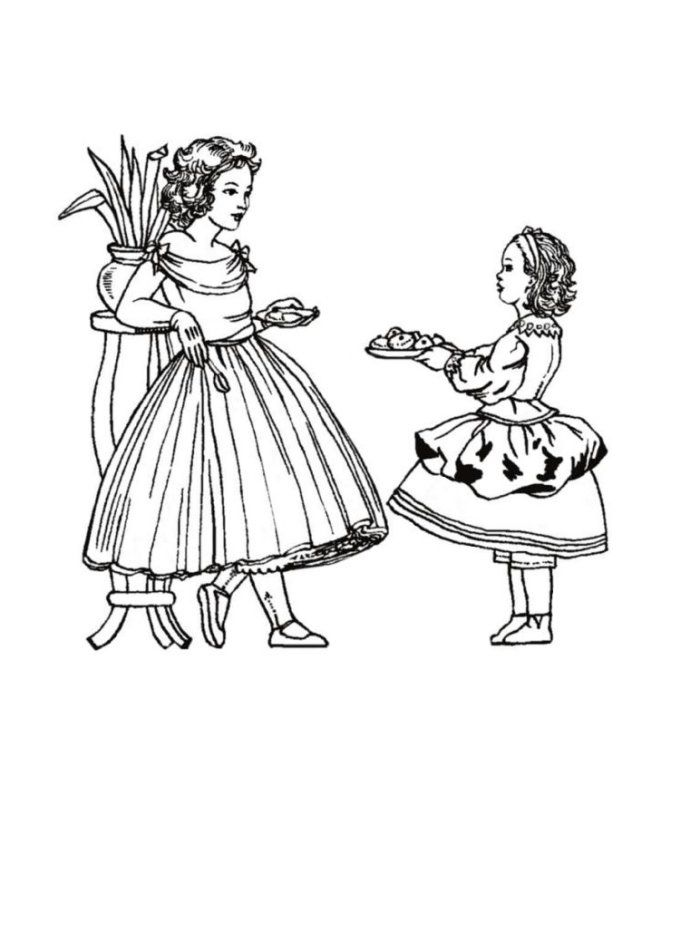 Victorian Coloring Pages AZ Coloring