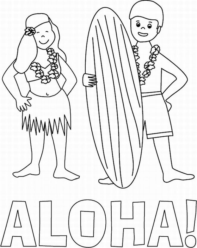 Coloring Pages For Hawaii : Free hawaiian coloring pages az