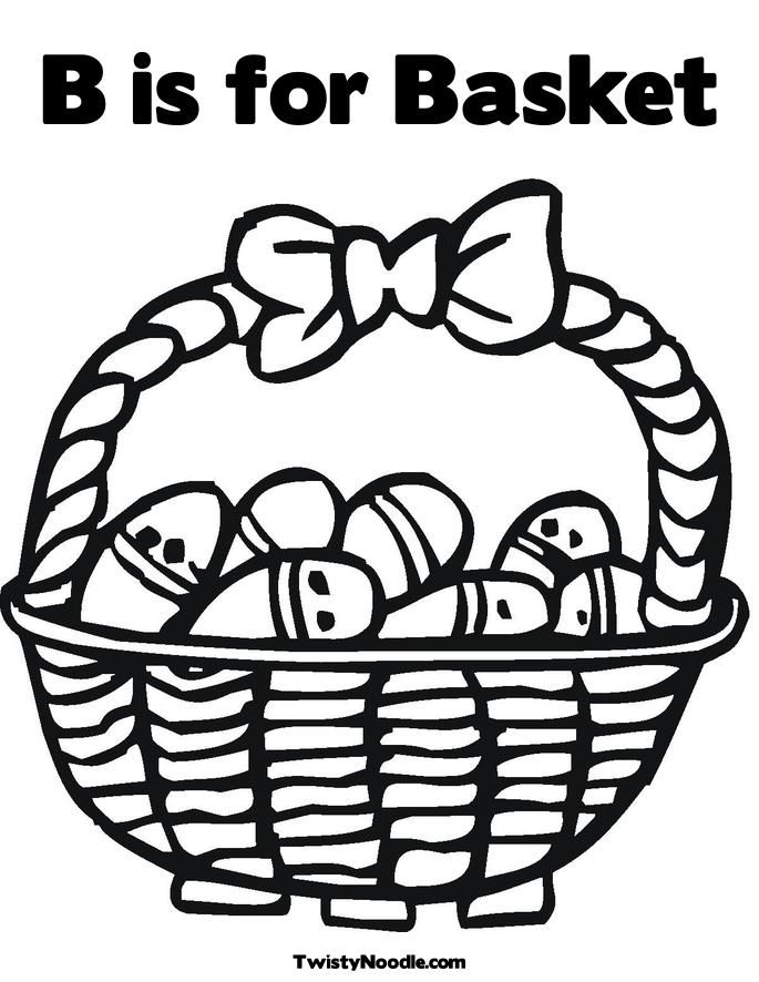 Basket coloring pages coloring home for Basket coloring pages