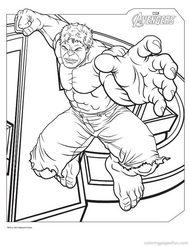 awesome Marvel's Avengers Coloring Pages for kids | Best Coloring