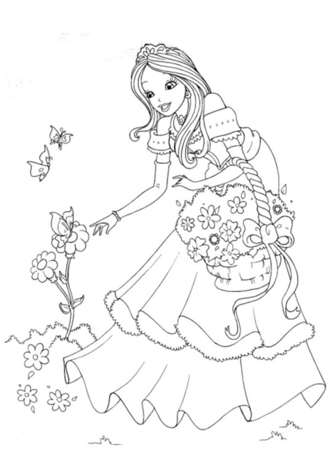 Princess Coloring Pages For Girls Az Coloring Pages Princess Coloring Pages Pdf Free Coloring Sheets